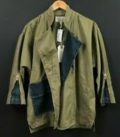NWT Current/Elliott Double Placket Jacket Military Green Size 1 Small $298