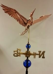 BLUE HERON MAJESTIC,COPPER weathervane, AS SHOWN.NO ROOF MOUNT.