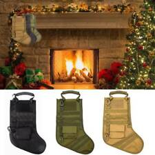 Tactical Molle Military Christmas Stocking Xmas Hanging Sock Storage Bag Pouch