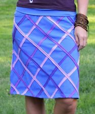 Plus Size UK 20 A-Line Skirt Ladies Womens Blue Diamonds Are Forever NEW #1278