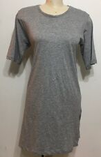 Zara Man Gray Short Sleeve Zipper Style Bottom Woman Dress Shirt Size Medium