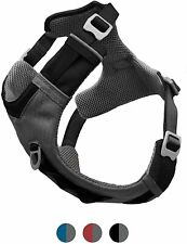 KURGO JOURNEY DOG HARNESS SOFT COMFORTABLE BUT STURDY/TOUGH Black & Grey Small