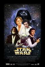 "STAR WARS Movie Poster [Licensed-NEW-USA] 27x40"" Theater Size George Lucas"