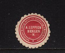 401524/sceau marque-A. Leppien-Berlin N. - fournisseur du Grossh. meckl. - s