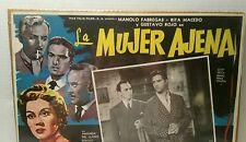 Vintage Films of Mexico Cinema Original Movie Poster Spanish La Mujer Ajena Art