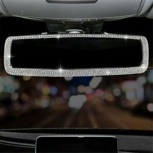 Glittering Crystal Rearview Reversing Mirror Car Decor Wide-angle Safety Driving