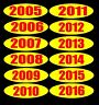 "CAR DEALER lot 24 decals- 12"" OVAL 4 DIGIT 2005-10 YEAR MODEL WINDOW STICKER"