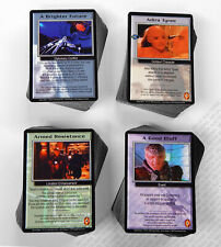 Babylon 5 CCG Deluxe Complete Set of 93 Rare R2 Cards 85 Fixed 378 Total M/NM