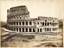 Rome Colosseum Vintage oversized albumen photo 28x38 cm Cardb larger 1870c XL133