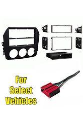 Car Audio Stereo Radio Install Mount Dash Trim Kit Combo for 09-14 Mazda Miata