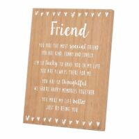 Special Friend Sentiments From The Heart Freestanding Wooden Plaque Gift