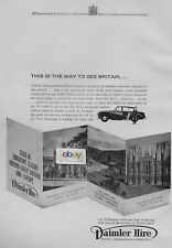 DAIMLER HIRE LONDON THE WAY TO SEE BRITAIN BY LIMOUSINE & CHAUFFEUR 1961 AD