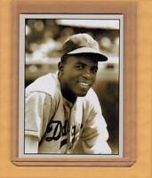 Jackie Robinson, Brooklyn Dodgers signature card Plutograph serial # /200