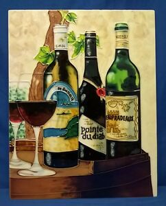 BENAYA TUBELINED PORCELAIN LARGE PLAQUE OR TILE - VINEYARD'S BEST VINTAGE WINES