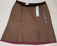 NWT Old Navy Maternity Brown Lined Skirt Size XS Low Rise No Panel Trimester 1-2