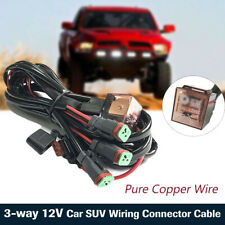 3-way 12V Wiring Connector Cable Harness for Car SUV LED Fog Light Spotlight