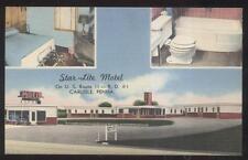 Postcard Carlisle Pa/Pennsylvania Star Lite Motel Motor Court Tri-View 1930'S