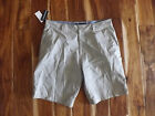 NWT Mens O'NEILL Flat Front Casual Marcos Khaki Textured Plaid Shorts Size 40