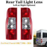 Rear Tail Lamp Light Lens Left / Right Side For Ford Transit MK7 06-14 Panel Van