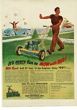1950 REO MOTORS Royale Lawn Mower gas powered 2 wheel art Vintage Ad