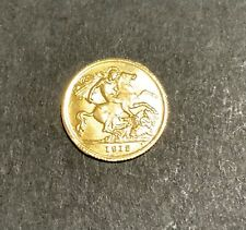 More details for 22ct gold half sovereign king george v 1912