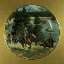 The West Of Frank McCarthy The Hostile Threat Plate Hamilton Collection Rare