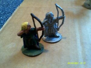 Classic Ral Partha E211 Wood Elf With Bow (2)  AD&D Fantasy Grenadier Vintage