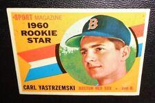 CARL YASTRZEMSKI #148 Boston Red Sox Left Field ROOKIE 1960 Topps NM H.O.F. 1989