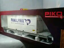 """PIKO 37721 Flachwagen mit 20' Container """"Panalpina"""" SBB Ep. VI G Gauge"""