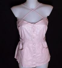 Bnwt Women's Oakley Squeeze Tank Strappy Top Blouse Small UK10 Metallic Pink