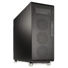 Boîtiers d'ordinateurs noirs ATX étendus sans bloc d'alimentation