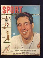 April 1949 Sport Magazine Bob Feller Indians M505