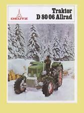 DEUTZ D 80 06 A Schlepper Traktor