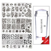 Buy 3 Get 1 Free Born Pretty Nailart Stamping Schablonen Jelly Stampfer Maniküre