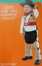 Halloween Infant Toddler Ride Em Cowboy Costume with Hat Size 12-24 months NWT