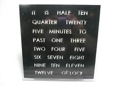 """Led 8"""" Square Word Clock Wall or Desk Mountable Text Time Display Modern Sleek"""