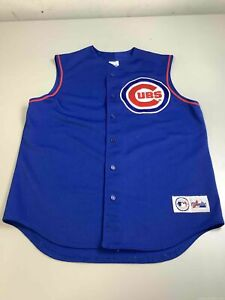 Men's Majestic Chicago Cubs Sleeveless Jersey Size L