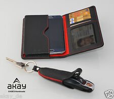 Wallet for Samsung S6 Edge + Key Cases For PORSCHE Cayman Boxster Cayenne 911