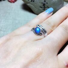 Super Beautiful Natural Blue Moon Stone Ring  925 Sterling Silver