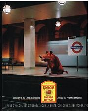 Publicité Advertising 2001 Gordon's London Dry Gin