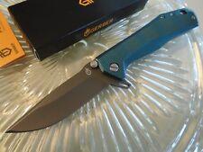 Couteau Gerber Index Linerlock Blue Lame Acier 5Cr15MoV Manche Aluminium G1356