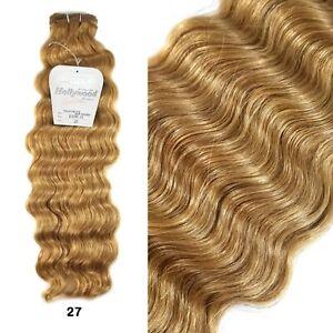 "Hollywood 100% Human Hair 18"" Italian French Deep Weaving - Blonde #27"