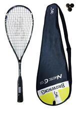 Browning Nanotec Ti 120 Yellow Squash Racket + 3 Dunlop Squash Balls RRP £280