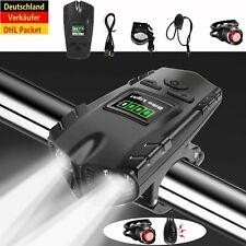LED Fahrradlampe USB Akku Radlicht Fahrradlicht Vorne Hinten Lampe Horn