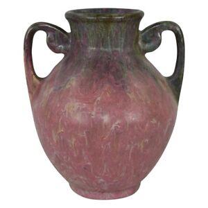 Vintage Roseville Pottery Carnelian II 1926 Mottled Red Arts & Crafts Vase 311-7