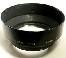 Nikon F Metal Lens Hood 50mm 58mm f1.4 Nikkor Ai Non F Shade OEM Genuine