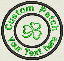 "Irish 3.5"" Circle Patch - Add text or Name - Iron On, or Sew On"