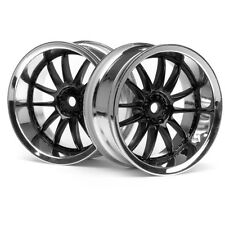 HPI 3287 Work XSA 02C Wheel 26mm Chrome/Black 6mm Offset(2) Sprint 2 E10 Nitro 3