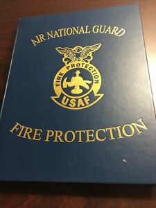 Air National Guard Fire Protection USAF Yearbook Rare