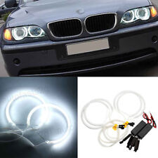 4x White LED Car Auto Angel Eyes Light CCFL Halo Ring Lamp For BMW E36 E38 E46